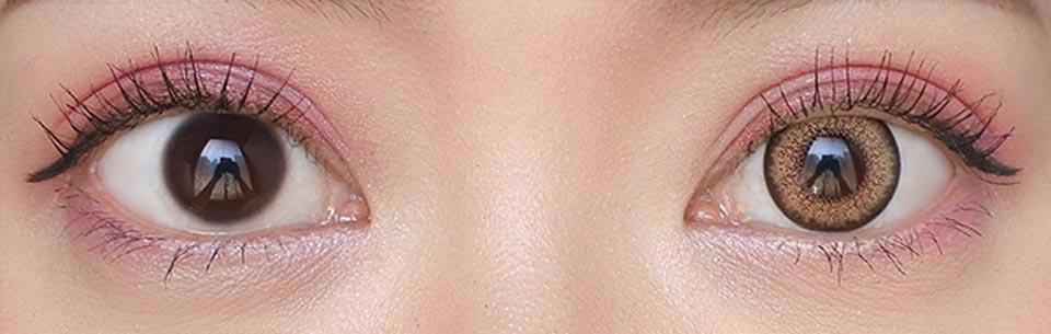カラーズワンマンスUV_メガベージュ_裸眼比較