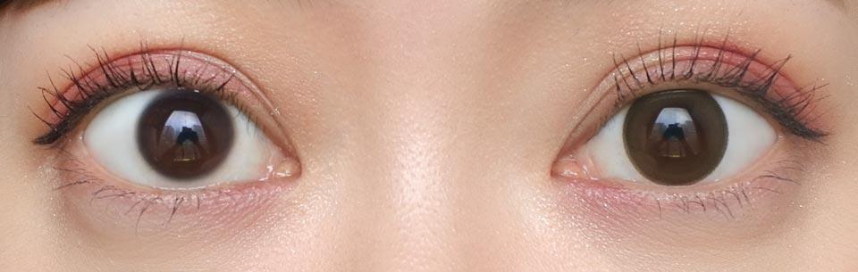 エヌズコレクション_ホットチョコレート_裸眼比較