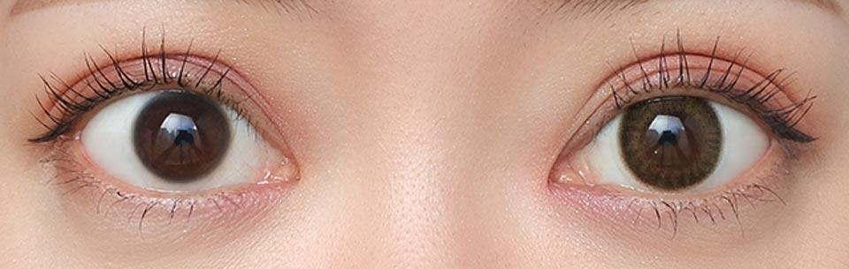 ヴィクトリアワンデー_ピュアトレンチ_裸眼比較