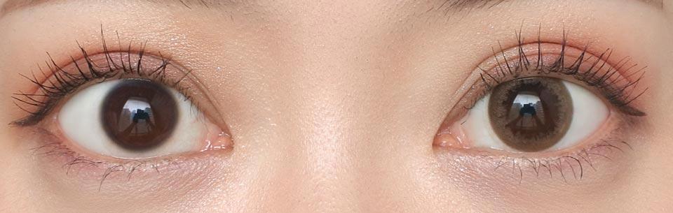 デコラティブアイズヴェール_コーラルブルーム_裸眼比較