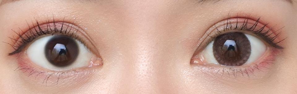 クレアbyマックスカラー_ローザ_裸眼比較