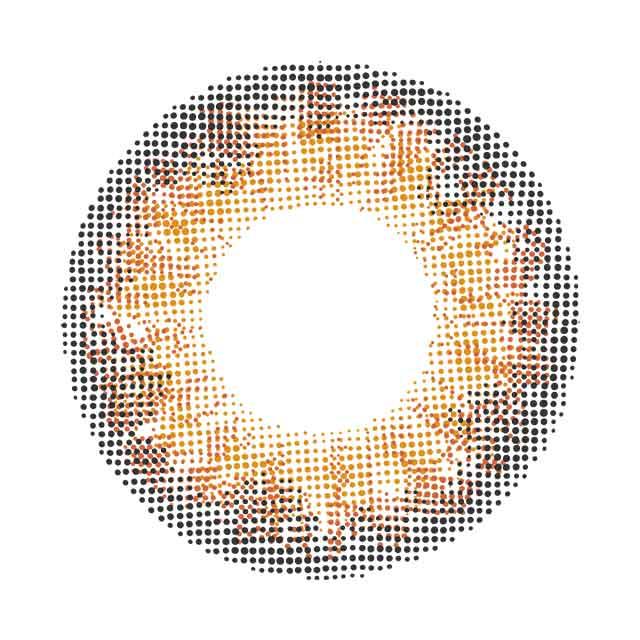 メランジェbyマジックカラー_ウォータリーカーネリアン_レンズデザイン
