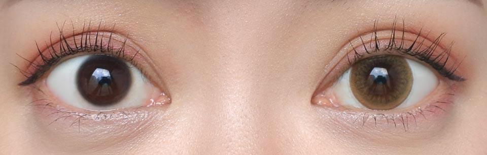 リッチスタンダード2week_イノセントブラウン_裸眼比較