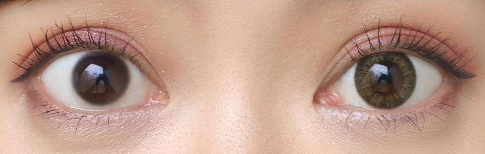 エルージュ_ルシールオークル_裸眼比較