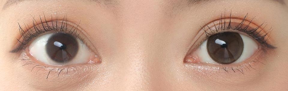 エンチュール アメリ_裸眼比較