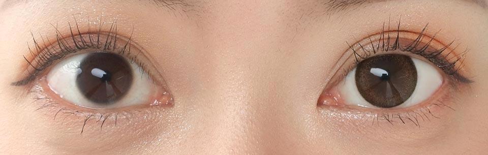 エンチュール リゼット_裸眼比較