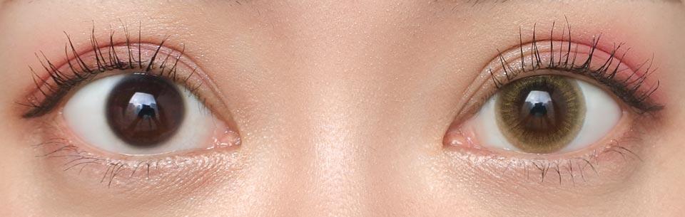 デコラティブアイズUV&moist No.8ステイラッキー_裸眼比較